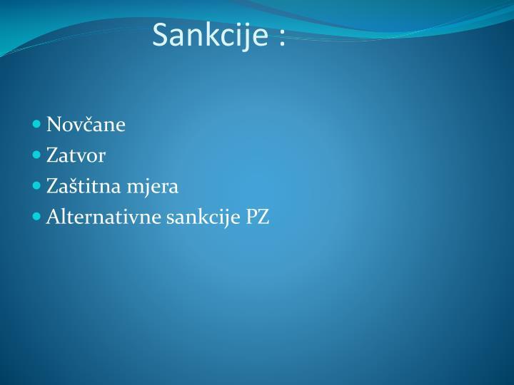 Sankcije :