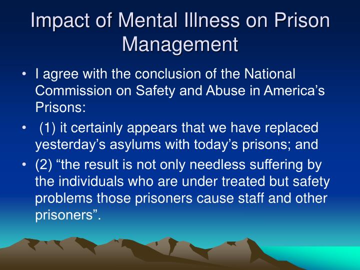 Impact of Mental Illness on Prison Management