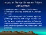 impact of mental illness on prison management