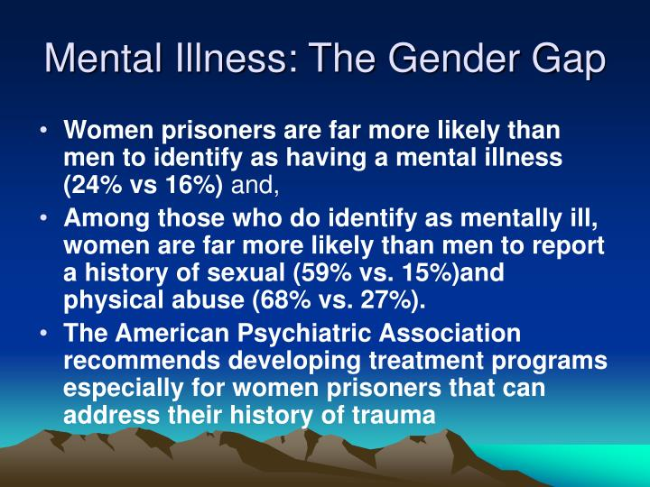 Mental Illness: The Gender Gap