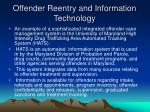 offender reentry and information technology