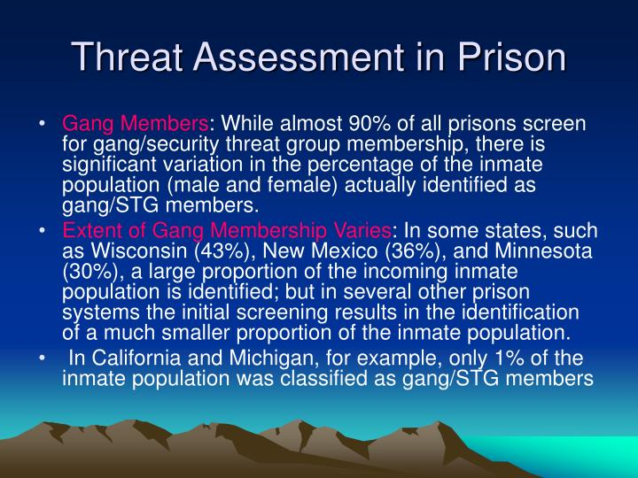 Threat Assessment in Prison