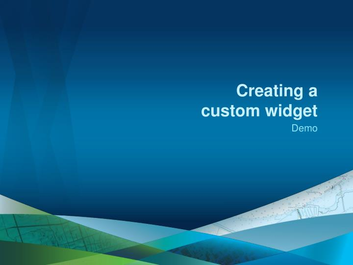 Creating a custom widget