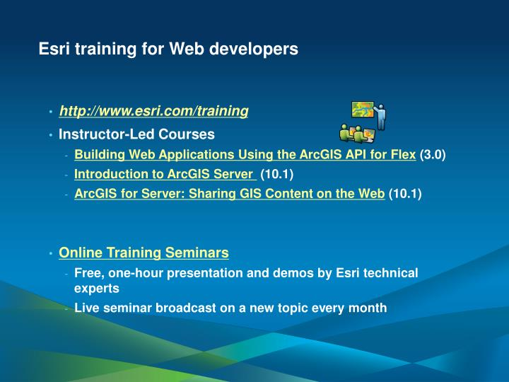 Esri training for Web developers