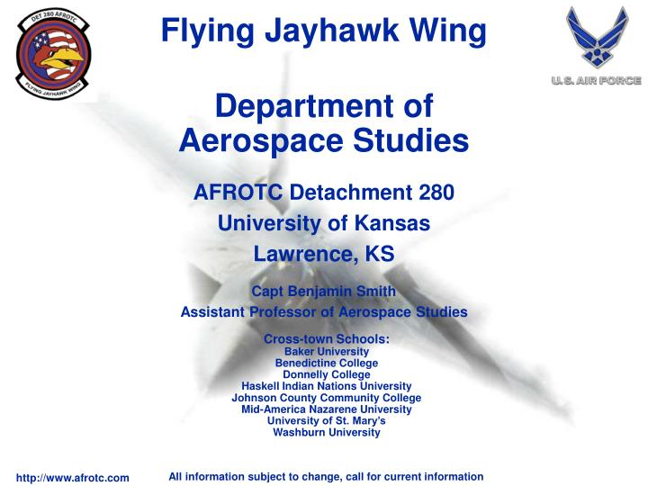 Department of aerospace studies