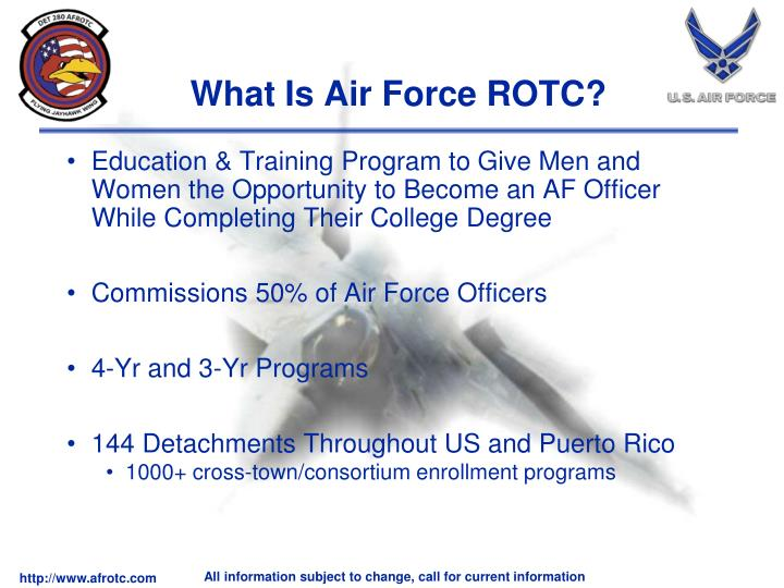 Education & Training Program to Give Men and Women the Opportunity to Become an AF Officer While Completing Their College Degree