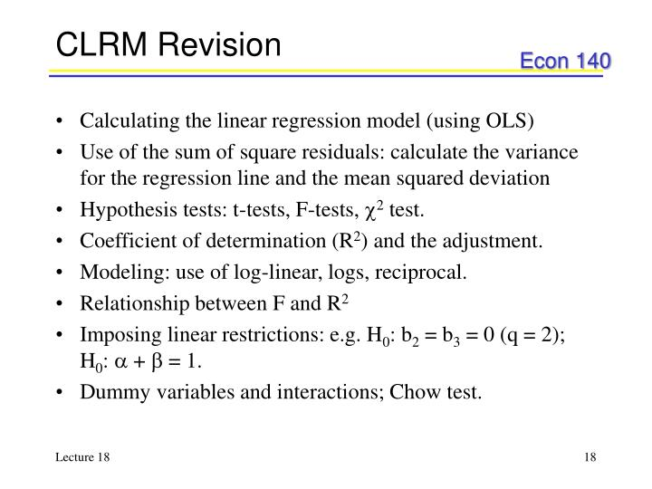 CLRM Revision