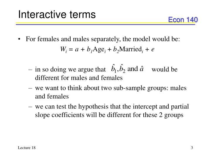 Interactive terms