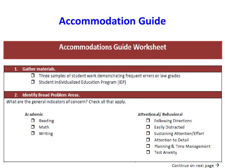Accommodation Guide