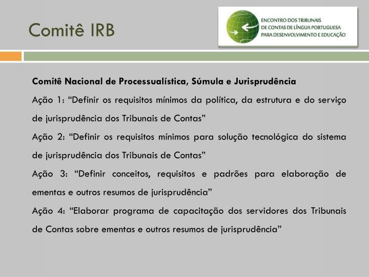 Comitê IRB