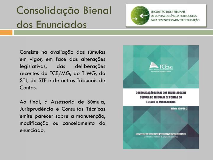 Consolidação Bienal