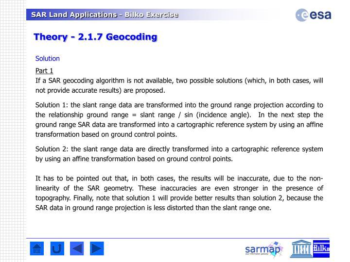 Theory - 2.1.7 Geocoding