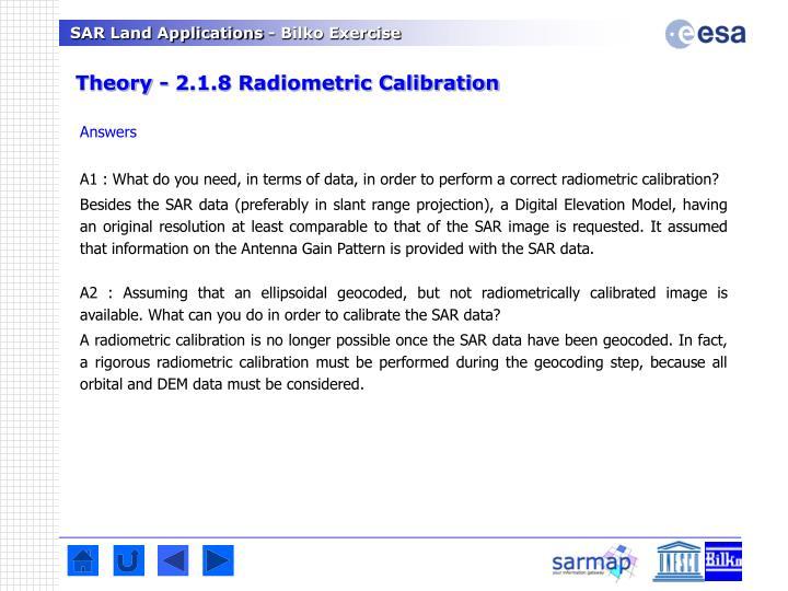 Theory - 2.1.8 Radiometric Calibration