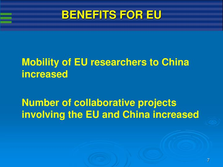 BENEFITS FOR EU