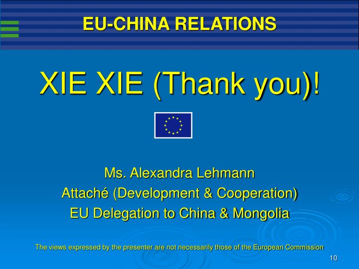 EU-CHINA RELATIONS