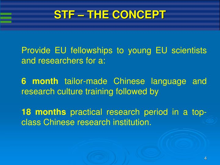 STF – THE CONCEPT