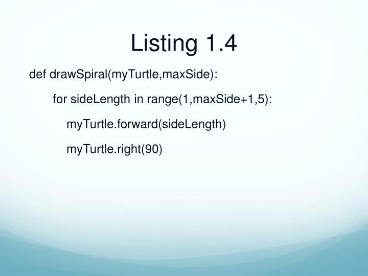 Listing 1.4