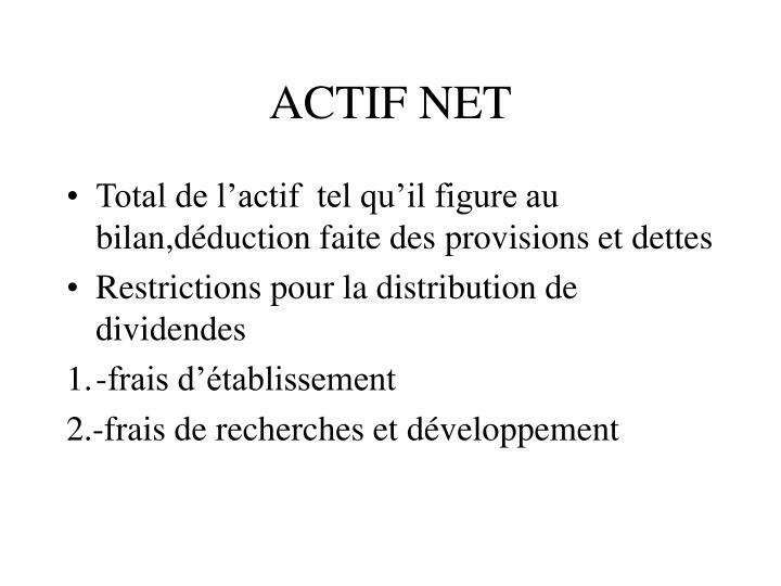 ACTIF NET