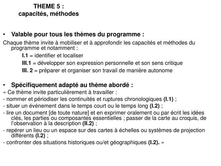 THEME 5 :