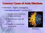 common causes of acute diarrhoea