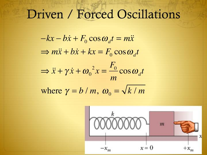 Driven / Forced Oscillations