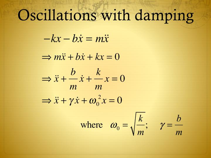 Oscillations with damping