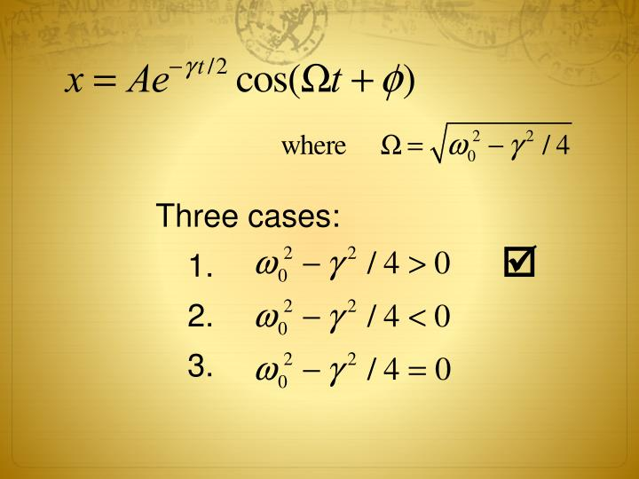 Three cases: