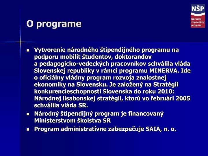 O programe