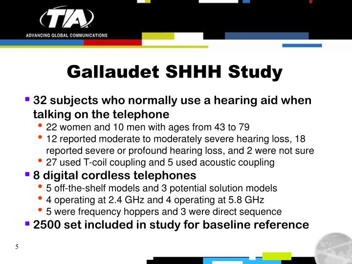 Gallaudet SHHH Study