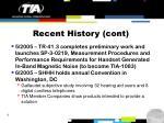 recent history cont