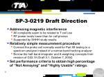 sp 3 0219 draft direction