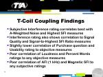 t coil coupling findings