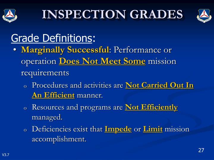 Grade Definitions