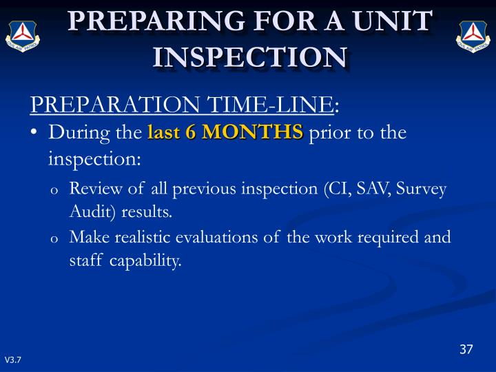 PREPARATION TIME-LINE