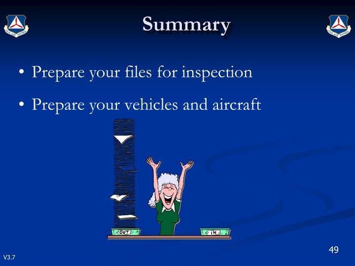 Prepare your files for inspection