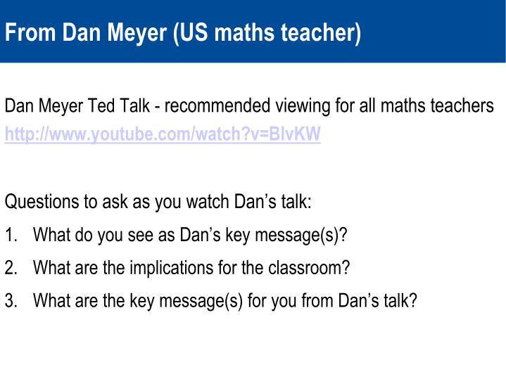 Dan Meyer Ted Talk -