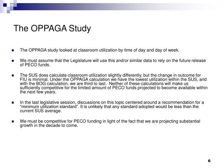 The OPPAGA Study