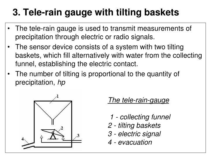 3. Tele-rain gauge with tilting baskets