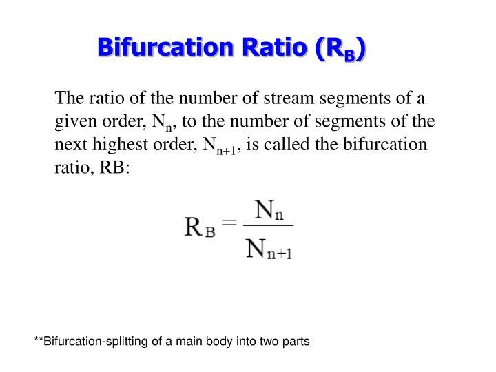 Bifurcation Ratio (R