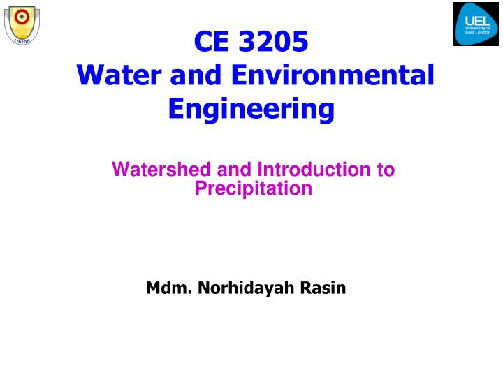 Ce 3205 water and environmental engineering