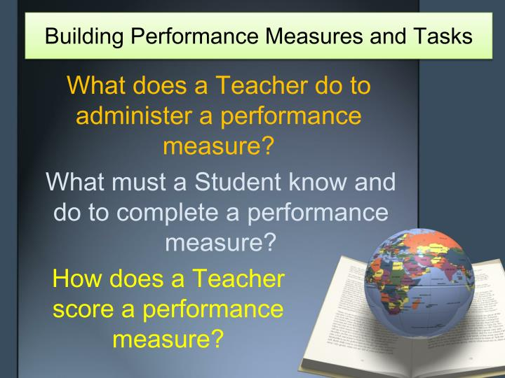 Building Performance Measures and Tasks