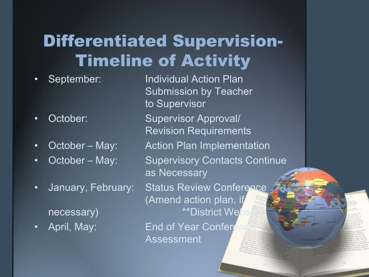 Differentiated Supervision-