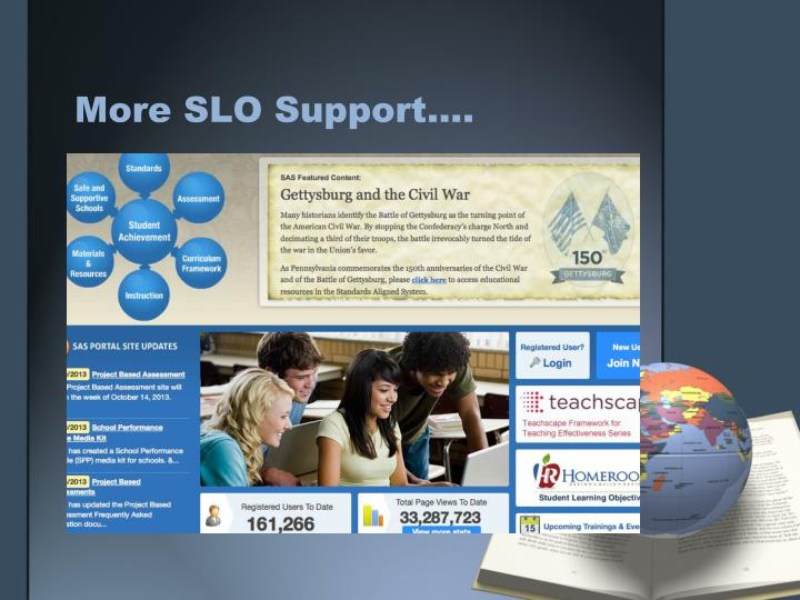 More SLO Support....