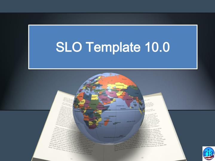 SLO Template 10.0