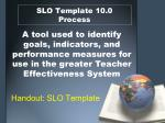 slo template 10 0 process