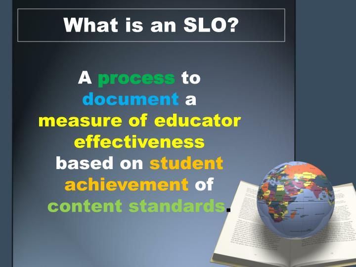 What is an SLO?