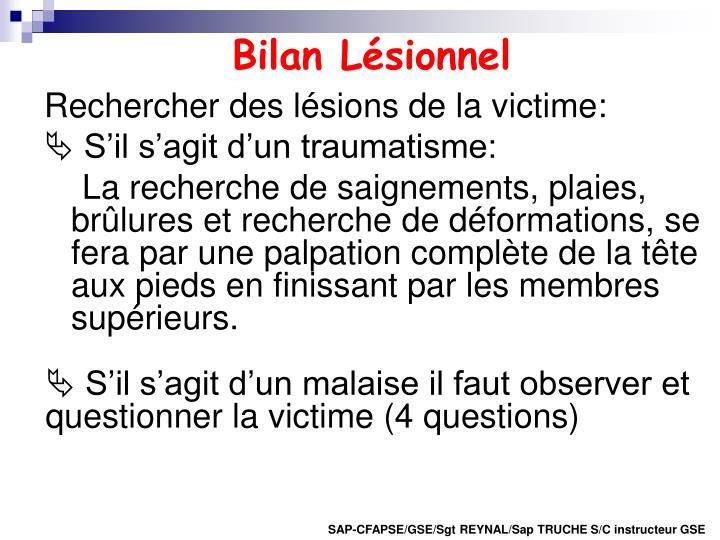 Bilan Lésionnel