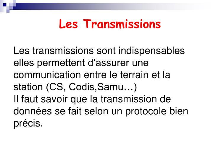 Les Transmissions