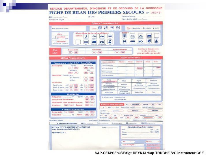 SAP-CFAPSE/GSE/Sgt REYNAL/Sap TRUCHE S/C instructeur GSE