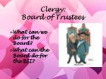 clergy board of trustees